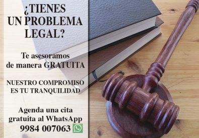 ¿Tienes un problema legal?